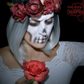 Skull Make-up , Totenkopf, rose