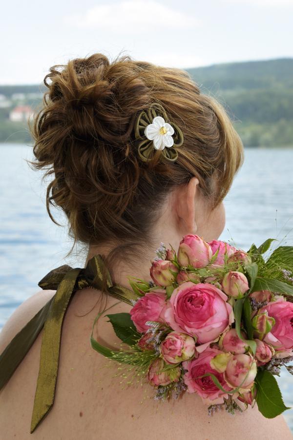 Brautmake-up, Hochzeit, Brautfrisur