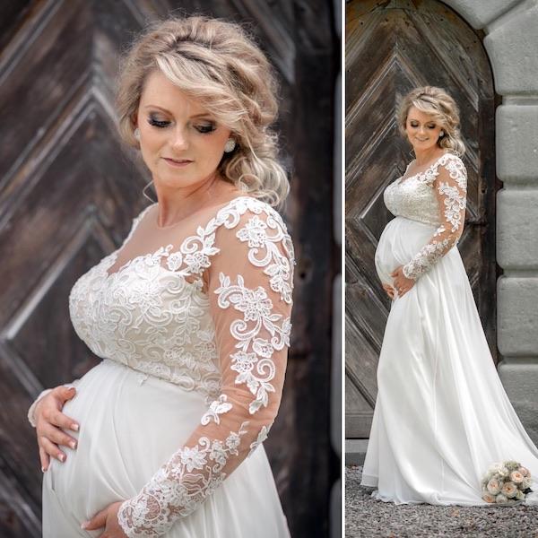 Braut Make-up und Brautfrisur