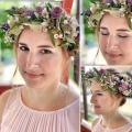 Brautfrisur mit Blumenkranz 02